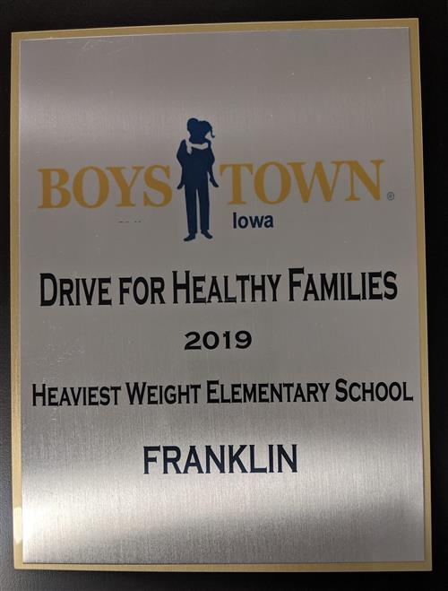 Drive for Healthy Families Award