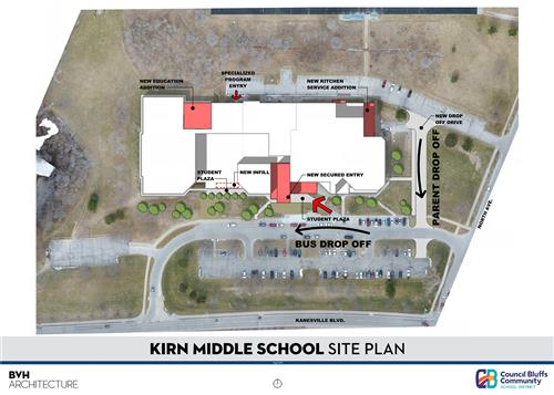 Site Plan of Kirn Middle School