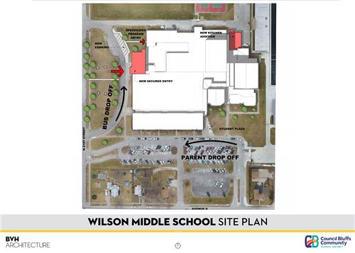 Exterior Site Plan of Wilson Middle School