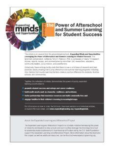 Power of Afterschool Learning Flyer
