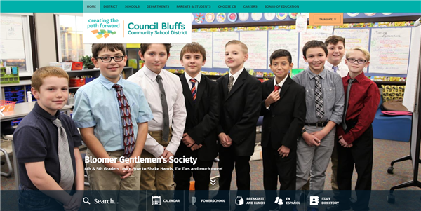 Council Bluffs Community School District Launches New Website
