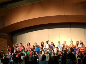5th Grade students participate in the music program at Carter Lake Elementary
