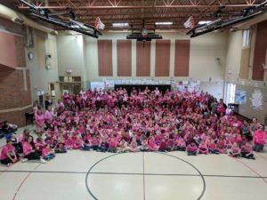 Pink Out Celebration at Carter Lake Elementary School