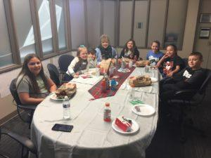 Franklin Student Council eats with Dr. Murillo
