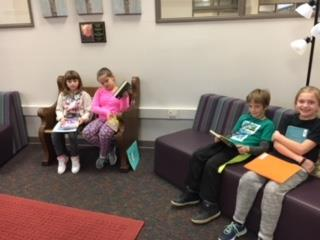Franklin Third Graders enjoy reading books on a Friday afternoon.