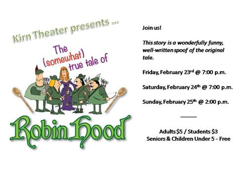 Robin Hood Play Announcement